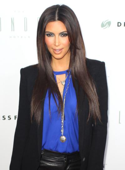 kim-kardashian-long-layered-straight-chic-hairstyle