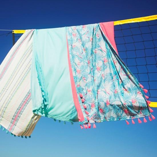 Πολυμορφικές πετσέτες που φοριούνται και ως wrap και σε tropical print