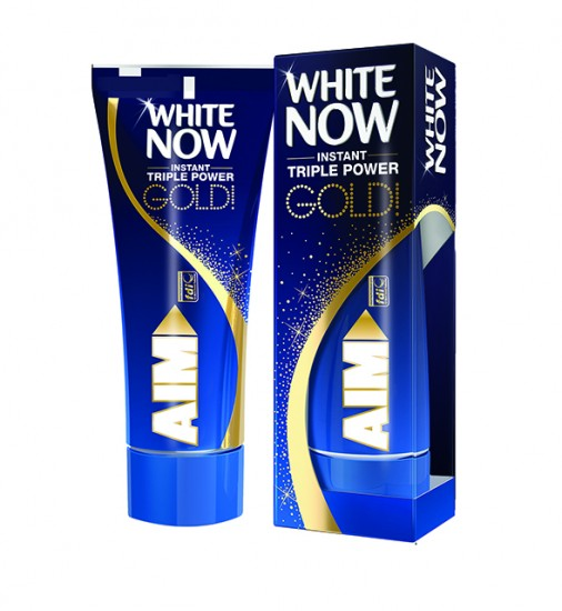 AIM White Now Gold box+tube