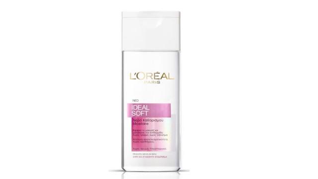 Eau Micellaire – Νερό καθαρισμού Micellaire της L'Oreal Paris: Υποαλλεργικό και χωρίς άρωμα, καθαρίζει σε βάθος κι αφαιρεί το ντεμακιγιάζ με μια κίνηση.