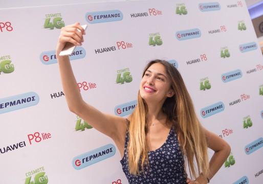 Η Άννα Πρέλιεβιτς με το νέο Smartphone Huawei P8
