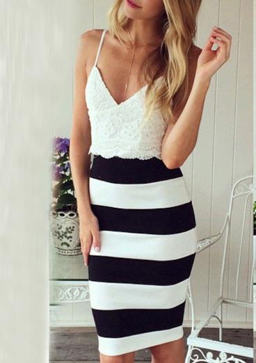 Ριγέ φόρεμα-Muse Clothing
