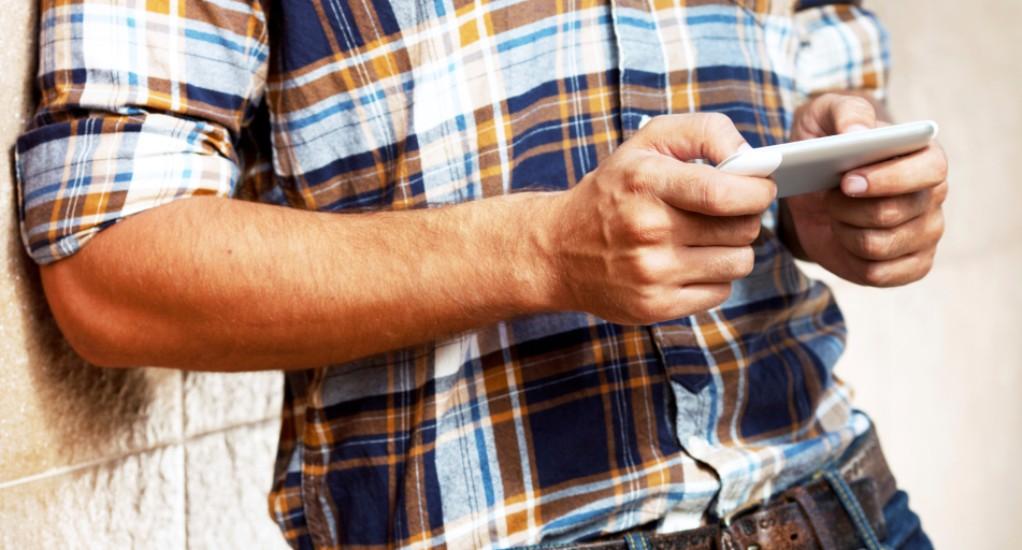 Το texting του άντρα