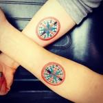 Follow-Compass-best-friends-tattoos