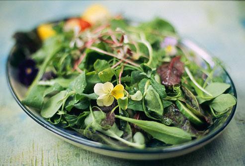 Σαλάτα με πράσινα λαχανικά