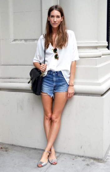 white-shirt-denim-shorts-1