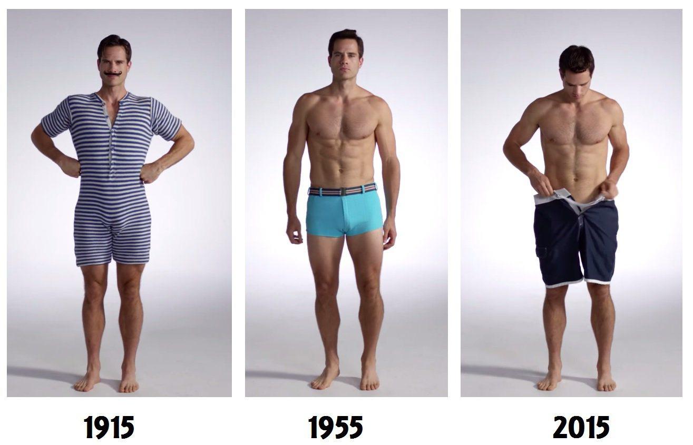Τα 100 χρόνια του ανδρικού μαγιό μέσα σε 3 λεπτά. 100 Years of Men s  Swimwear d926bbd5c3a