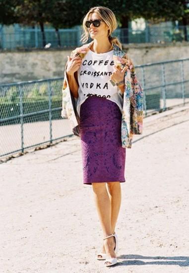 συνδυασμοί δαντελένιας φούστας