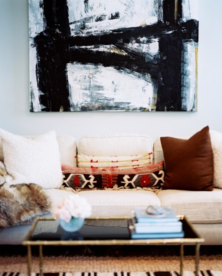 διακόσμηση ουδέτερου καναπέ