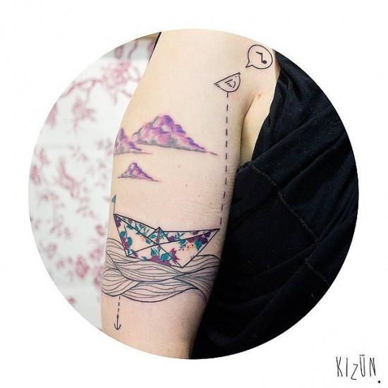 τατουάζ με θέμα ταξίδι