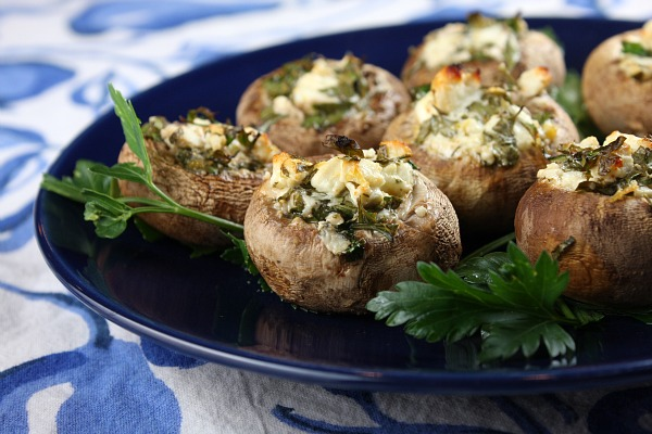 Feta-Stuffed-Mushrooms