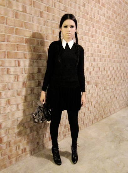 Halloween κοστούμι με μαύρο φόρεμα