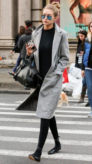 celebrity look παλτό
