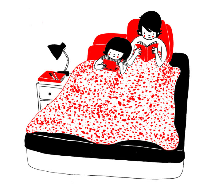 Ευτυχία είναι να διαβάζετε μαζί στο κρεβάτι μετά από μια κουραστική μέρα