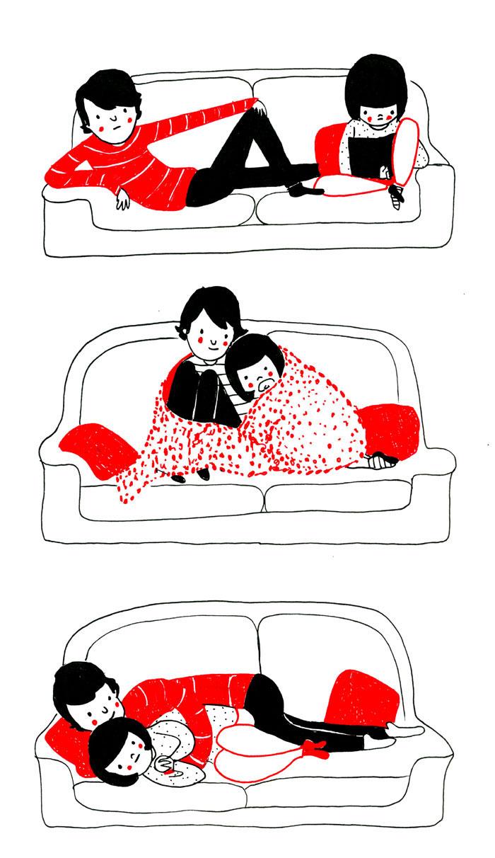 Η αγαπημένη σας θέση στον καναπέ
