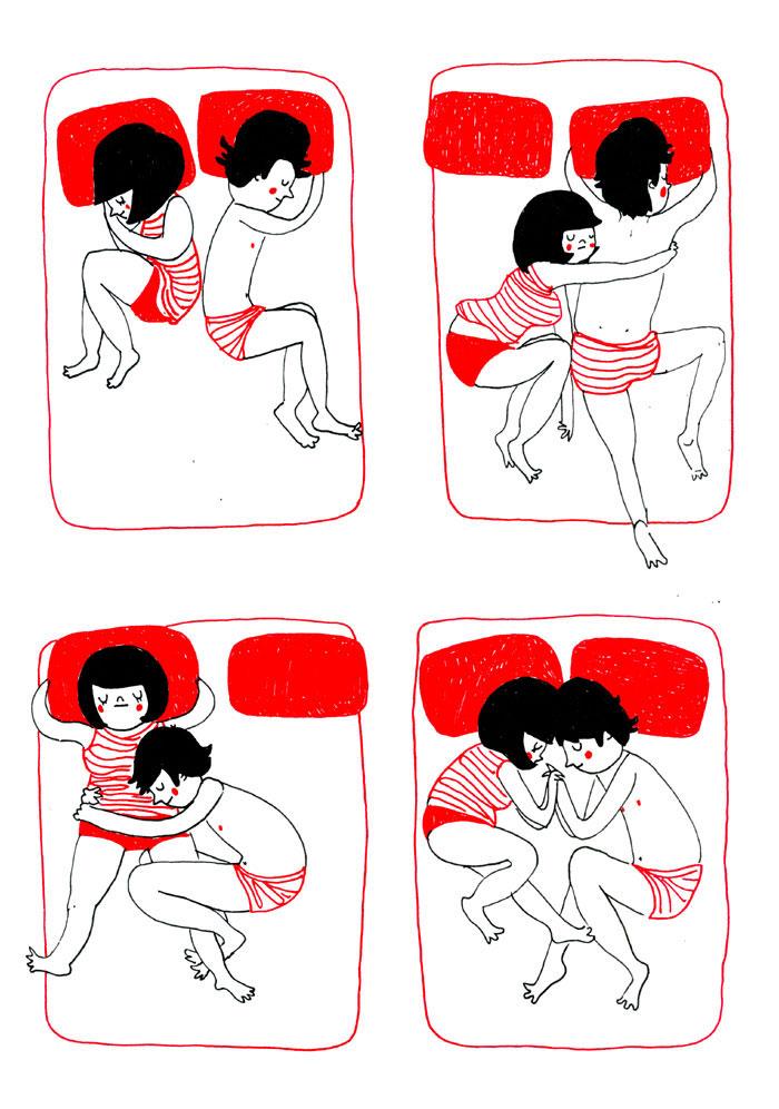 Μια απρόσμενη αγκαλιά κατά τη διάρκεια του ύπνου είναι υπέροχη