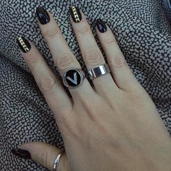 grunge nail art