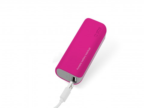 Powerbank USB SBS Portable Battery Backup 2000 mAh Ροζ 9.99euro