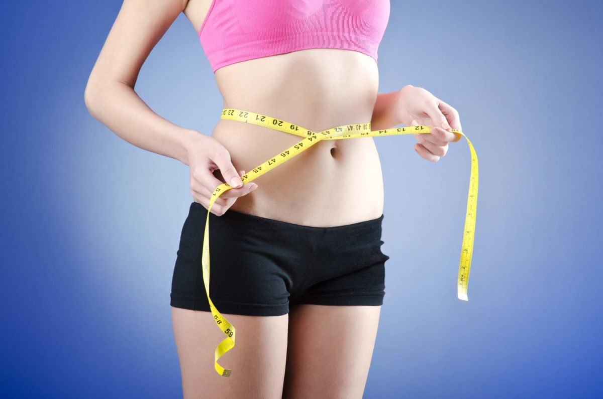 Young lady in dieting concept