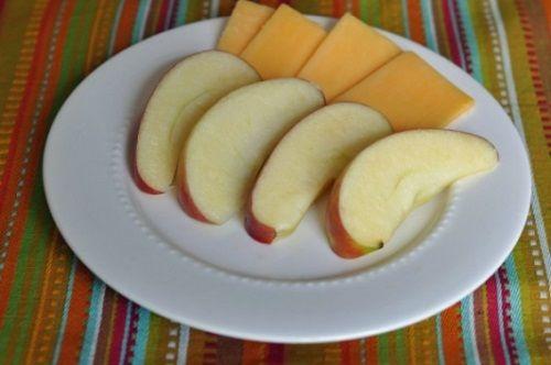 Εικόνα 3 Μήλο με τυρί Cheddar