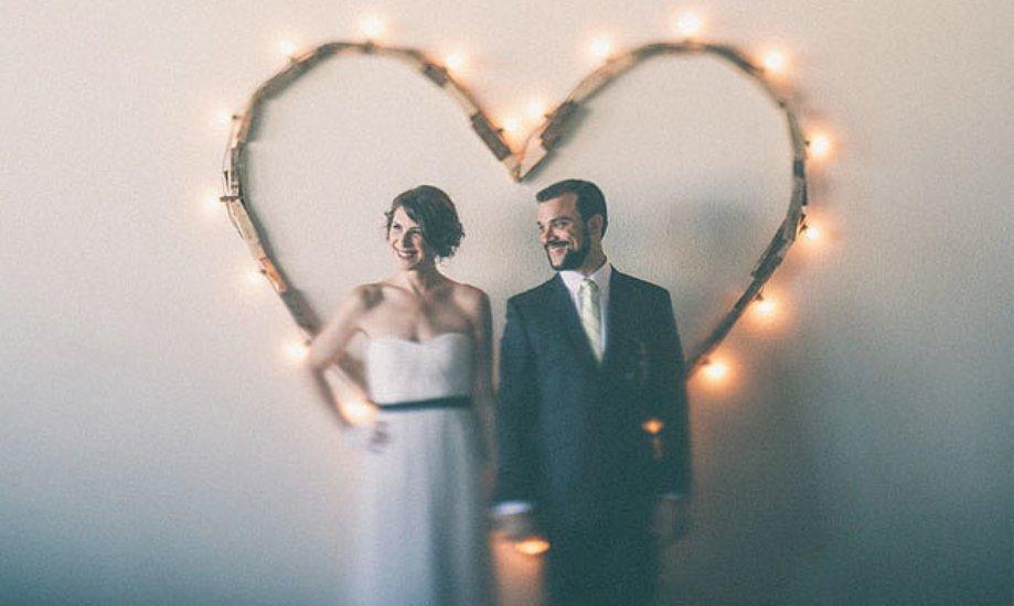 σύμβολο καρδιάς στο γάμο