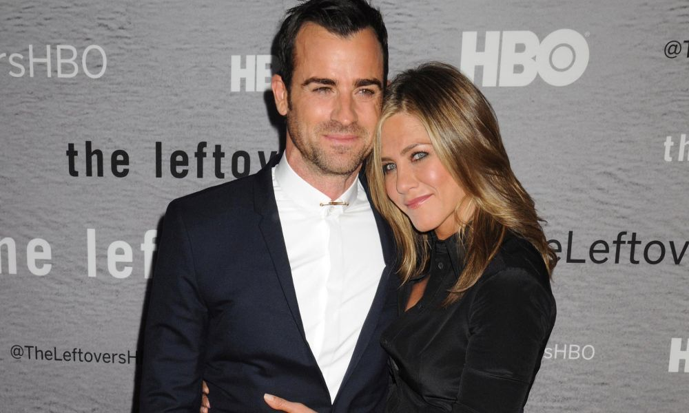 "Justin Theroux and Jennifer Aniston at HBO premiere of ""THE LEFTOVERS"" in NYC"