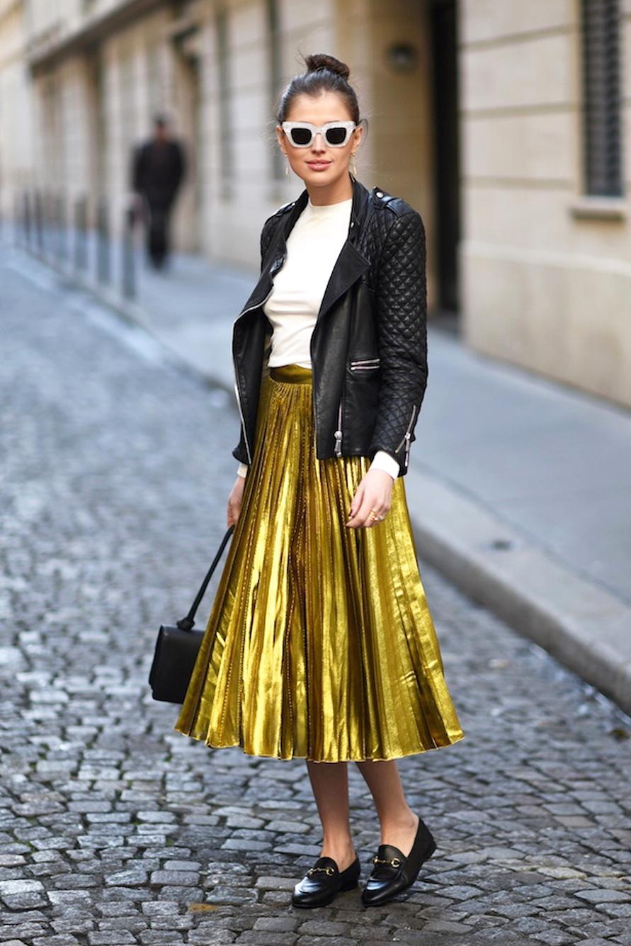 μεταλλική φούστα