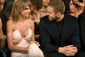 LAS VEGAS, NV - MAY 17:  Recording artists Taylor Swift (L) and Calvin Harris attend the 2015 Billboard Music Awards at MGM Grand Garden Arena on May 17, 2015 in Las Vegas, Nevada.  (Photo by Larry Busacca/BMA2015/Getty Images for dcp)