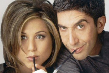 FRIENDS -- Season 2 -- Pictured: (l-r) Jennifer Aniston as Rachel Green, David Schwimmer as Ross Geller  (Photo by NBC/NBCU Photo Bank via Getty Images)