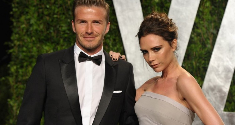 WEST HOLLYWOOD, CA - FEBRUARY 26:  Athlete David Beckham and fashion designer Victoria Beckham arrive at the 2012 Vanity Fair Oscar Party hosted by Graydon Carter at Sunset Tower on February 26, 2012 in West Hollywood, California.  (Photo by John Shearer/WireImage)