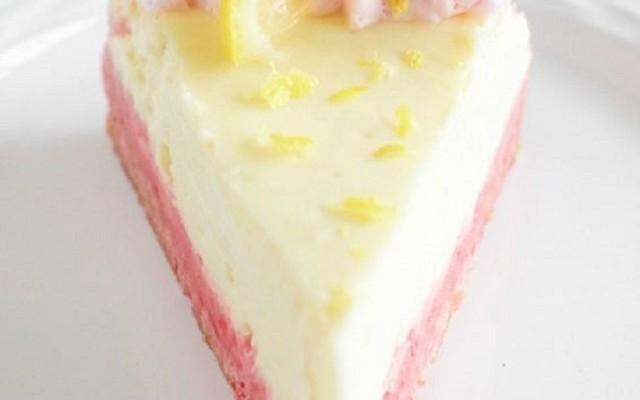 Ροζ - Κίτρινο Cheesecake Λεμονιού