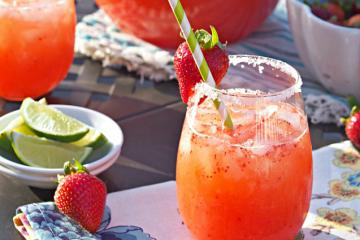 Σπιτική μαργαρίτα με φράουλα