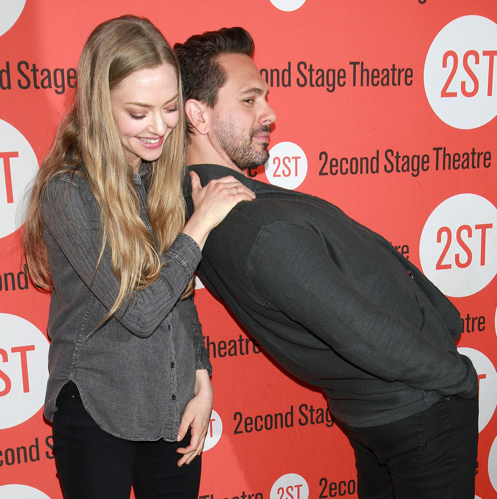 Photo call with the cast and creative team for 'The Way We Get By' at the Second Stage Theatre Featuring: Amanda Seyfried, Thomas Sadoski Where: New York City, New York, United States When: 01 May 2015 Credit: Joseph Marzullo/WENN.com