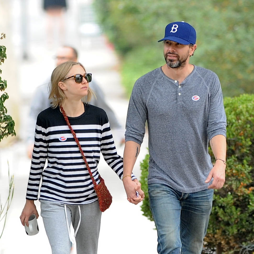 Amanda Seyfried hits the voting poles with boyfriend Thomas Sadoski in Hollywood Featuring: Amanda Seyfried, Thomas Sadoski Where: Hollywood, California, United States When: 07 Jun 2016 Credit: Cousart/JFXimages/WENN.com **Not available for publication in Australia and New Zealand**