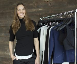 A look from Hilary Swank's ath-leisure label Mission.