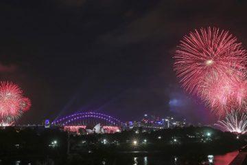 Fireworks explode around the Sydney Opera House and Harbour Bridge as New Year celebrations get underway in Sydney, Australia, Saturday, Dec. 31, 2016. (AP Photo/Rick Rycroft)