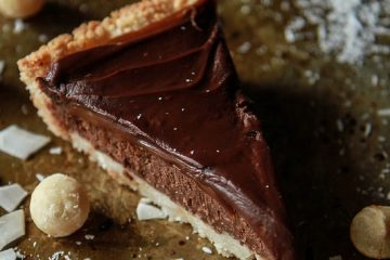 Σοκολατόπιτα με καραμέλα