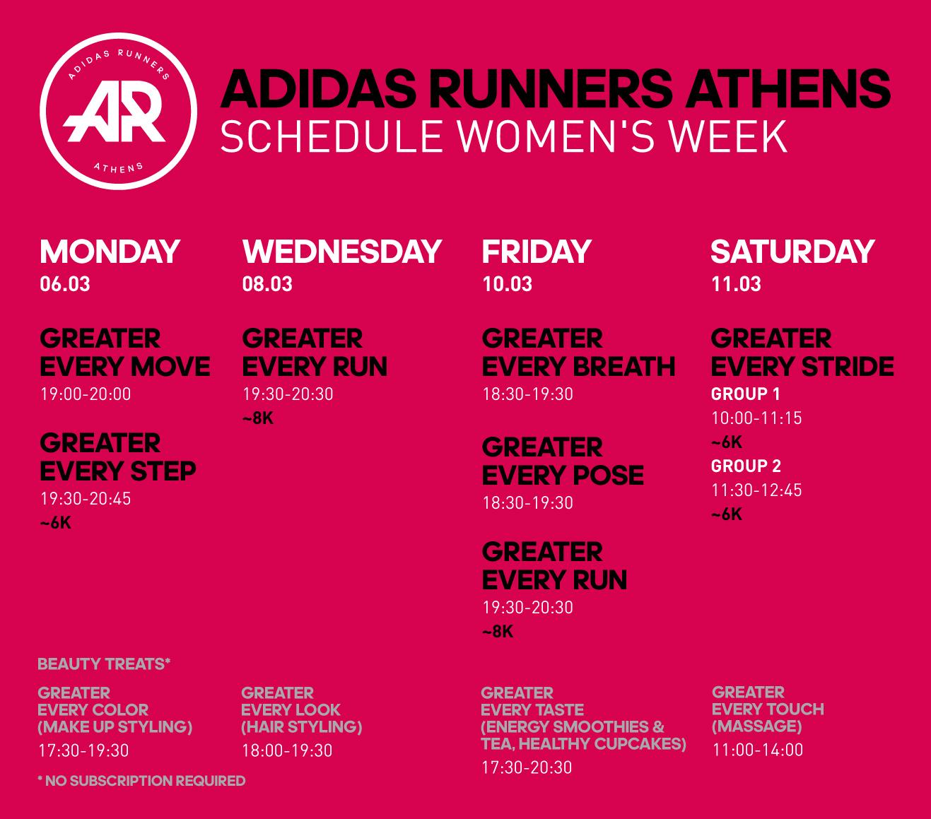adidas Women_Calendar Visual
