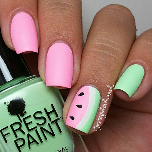 nails-watermelon