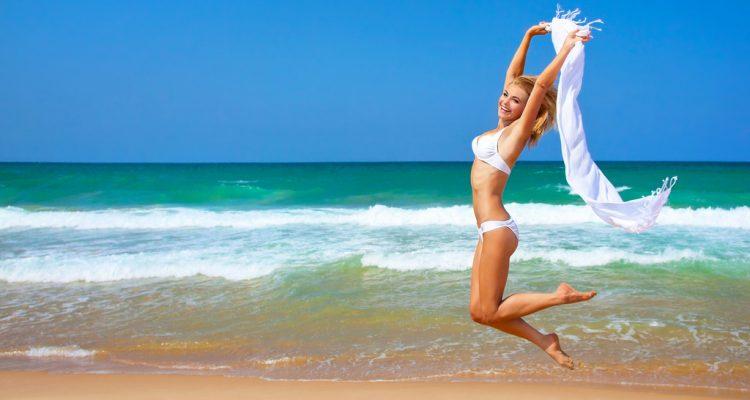 Happy beach girl 1