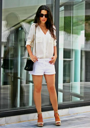 2.-V-neck-button-down-shirt-with-shorts