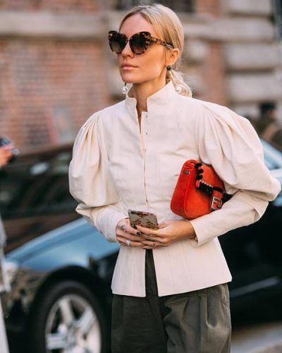 6no84h-l-610x610-jacket-tumblr-bag-red+bag-cat+eye-white+jacket-puffed+sleeves-pants-khaki-khaki+pants-sunglasses-tortoise+shell-streetstyle