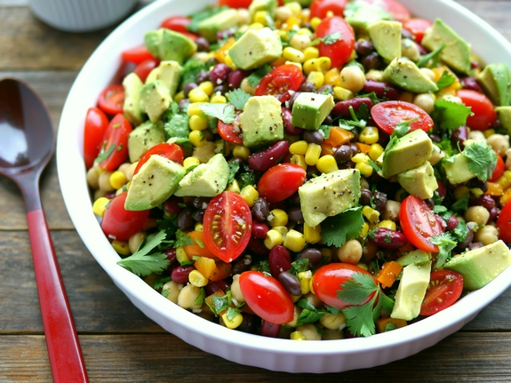 Avocado-and-Three-Bean-Salad-is-perfect-for-a-summertime-barbecue-side-dish