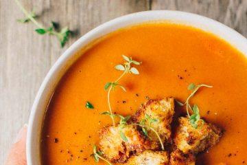 σούπα καρότο και ντομάτα