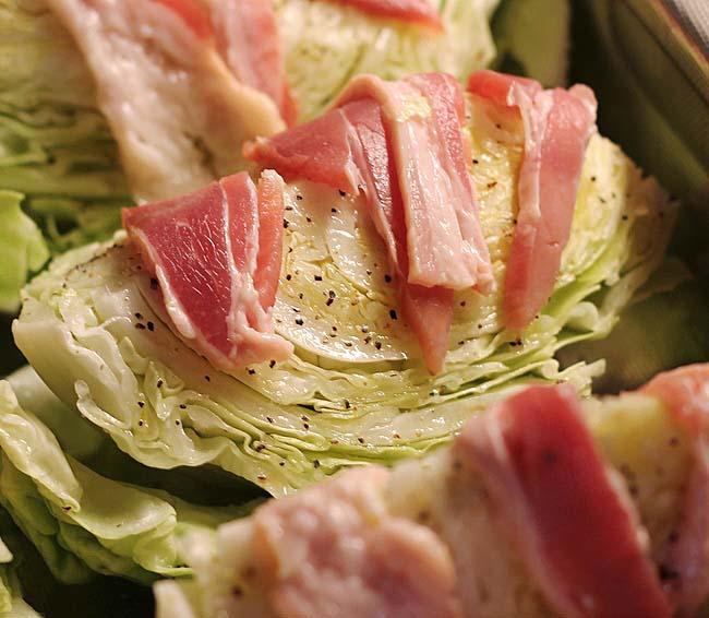 λάχανο με μπέικον