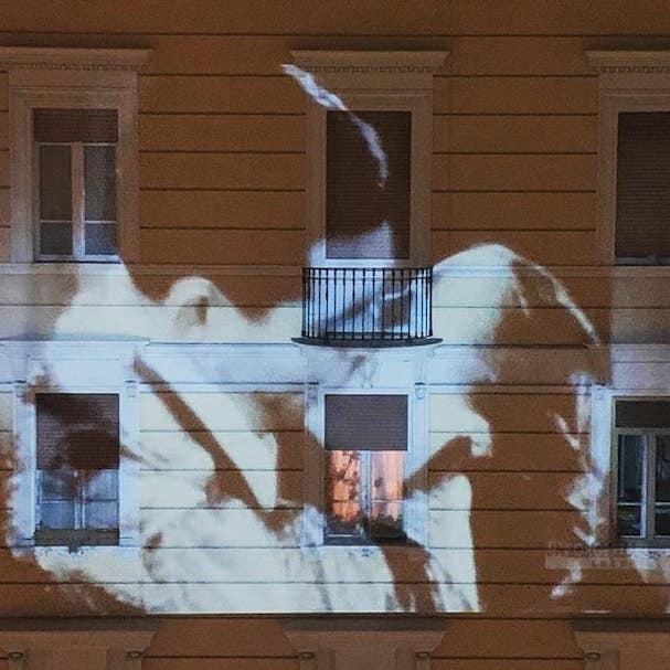 ιταλία κτήρια προτζέκτορας