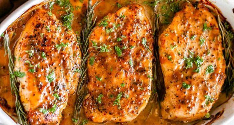 κοτόπουλο με μουσταρδόμελο