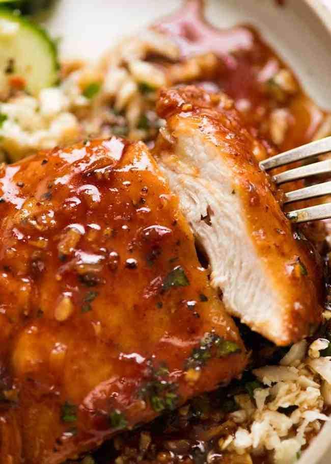 κοτόπουλο με σάλτσα μέλι