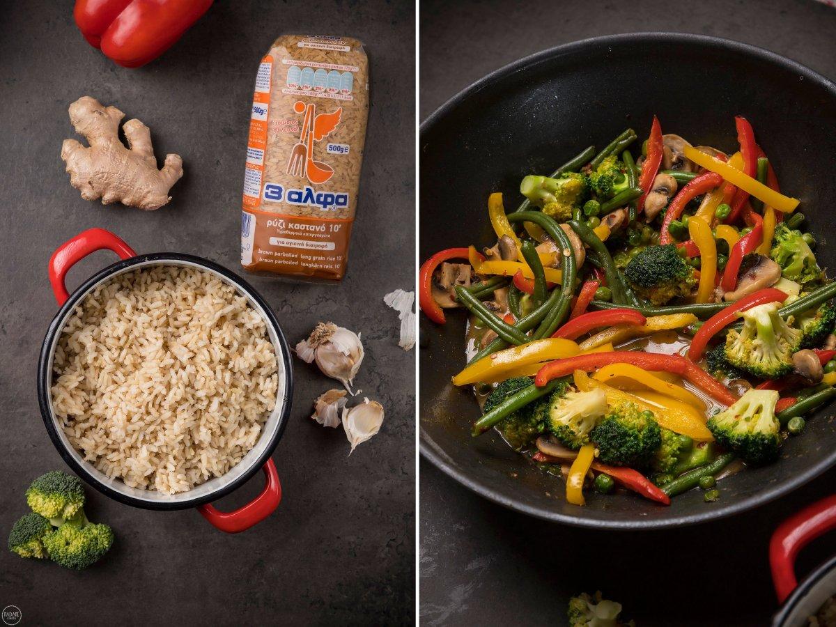 stir-fry λαχανικών