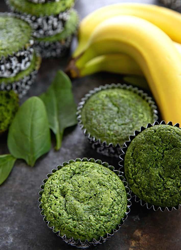 μάφιν μπανάνα σπανάκι